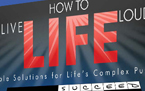 Retail DVD & CD packaging for the How To Live Life Loud Event